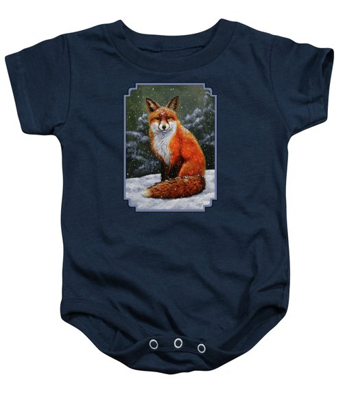 Snow Fox Baby Onesie