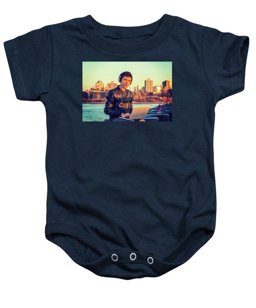 Asian American College Student Traveling, Studying In New York Baby Onesie