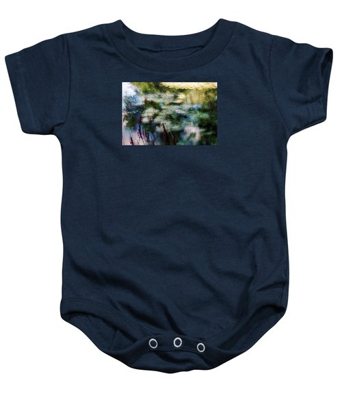 Baby Onesie featuring the photograph At Claude Monet's Water Garden 2 by Dubi Roman