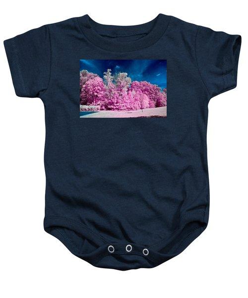 Autumn Trees In Infrared Baby Onesie