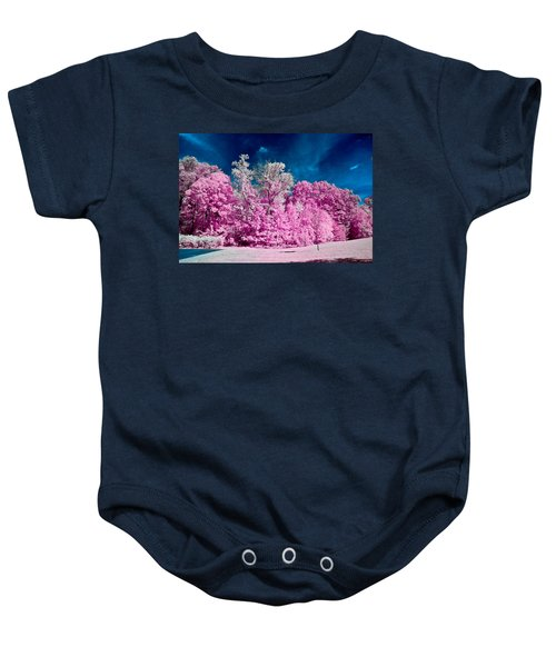 Autumn Trees In Infrared Baby Onesie