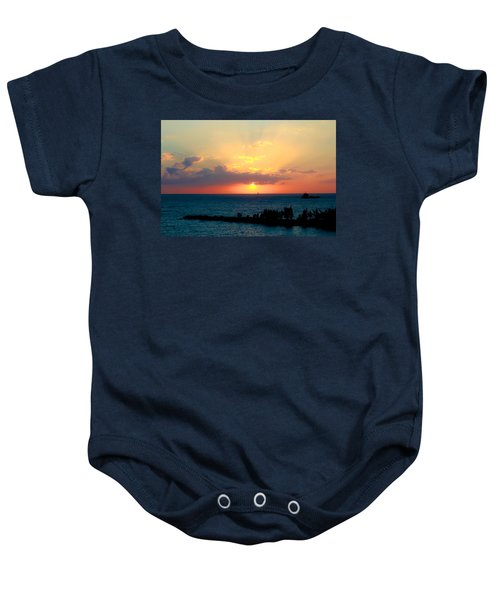 Bahamas Sunset Baby Onesie