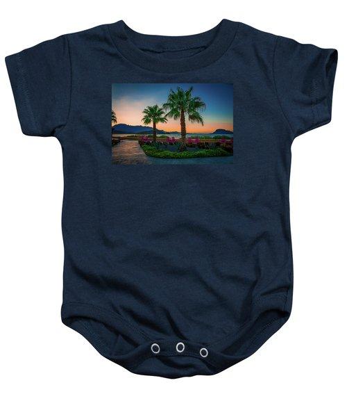 Baja Sunset Baby Onesie