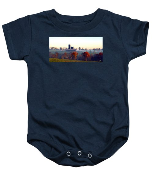 Barn And Silo 3 Baby Onesie