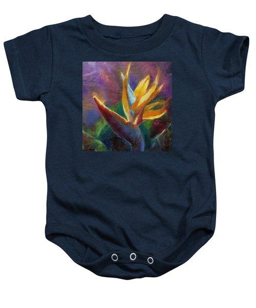 Bird Of Paradise - Tropical Hawaiian Flowers Baby Onesie