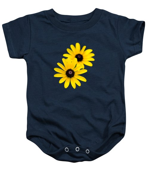 Baby Onesie featuring the photograph Black Eyed Susans by Christina Rollo