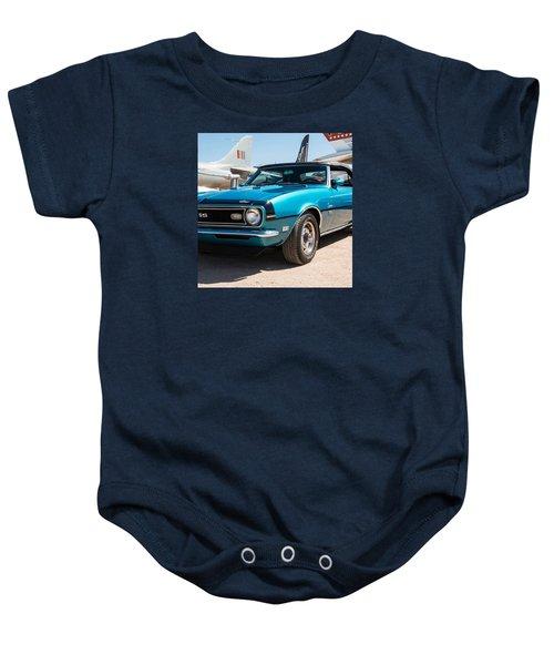 Blue 350 Chevy Camaro Ss Baby Onesie