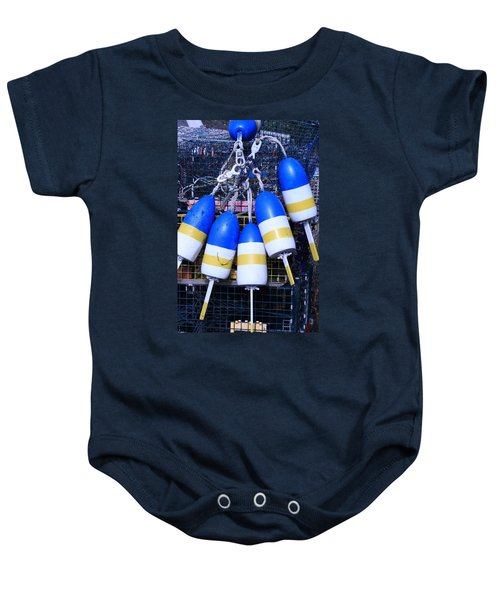 Blue And Gold Bouys Baby Onesie