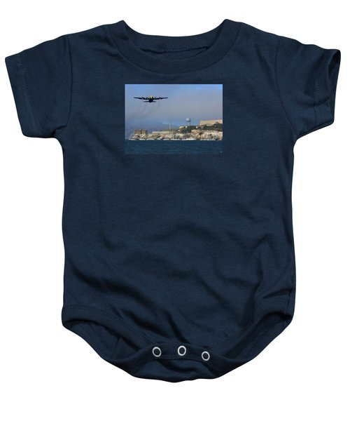 Blue Angels C130 Fat Albert Passes Alcatraz Baby Onesie
