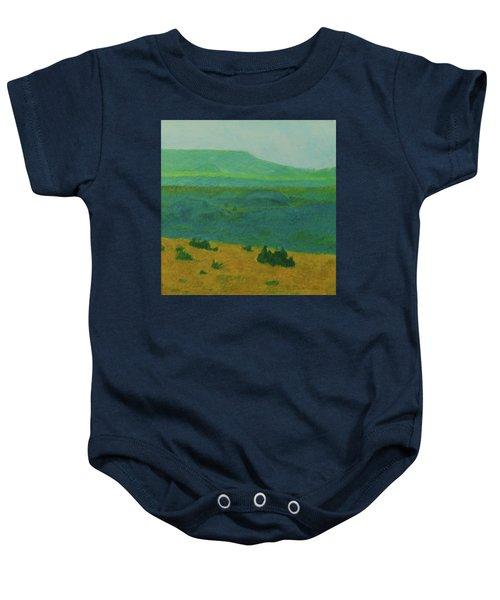 Blue-green Dakota Dream, 2 Baby Onesie