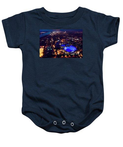Blue Lsu Tiger Stadium Baby Onesie