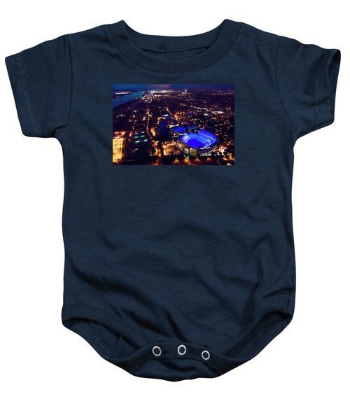 Blue Lsu Tiger Stadium Baby Onesie