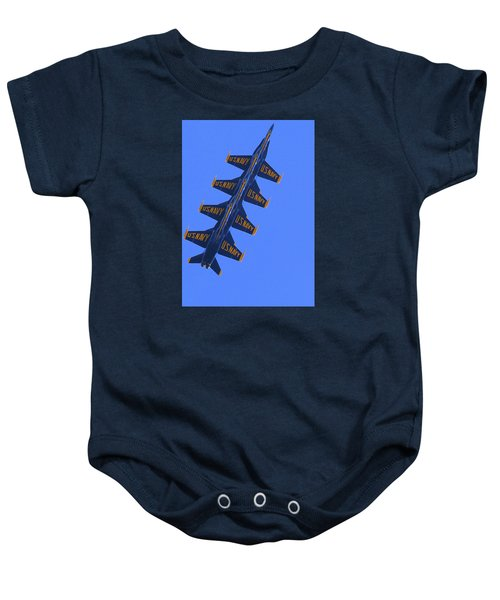 Blue On Blue Baby Onesie