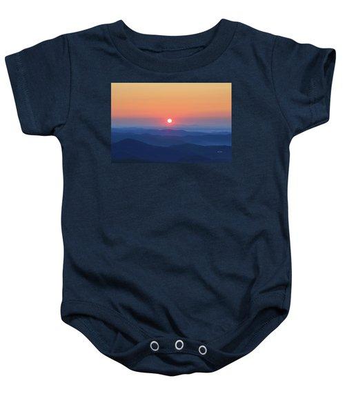 Blue Ridge Sunrise Baby Onesie
