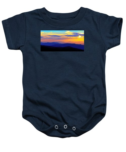 Blue Ridge Sunset, Virginia Baby Onesie