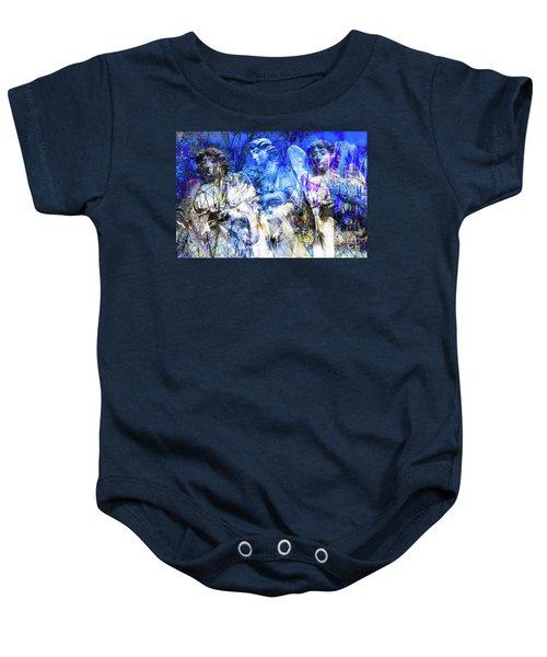 Blue Symphony Of Angels Baby Onesie