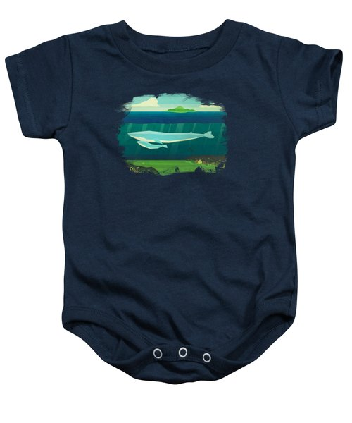 Blue Whale Baby Onesie by David Ardil