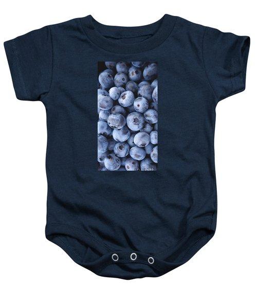 Blueberries Foodie Phone Case Baby Onesie by Edward Fielding