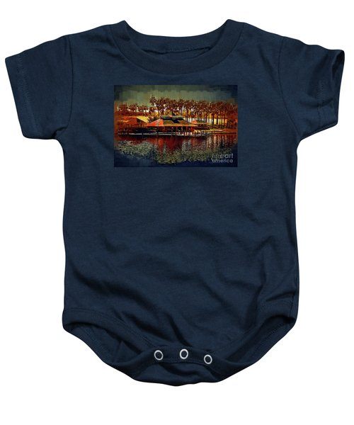 Boat Dock On North Lake Baby Onesie