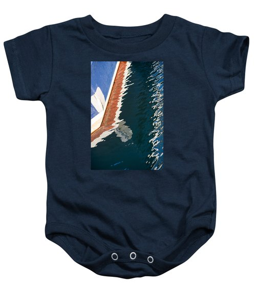 Boatside Reflection Baby Onesie