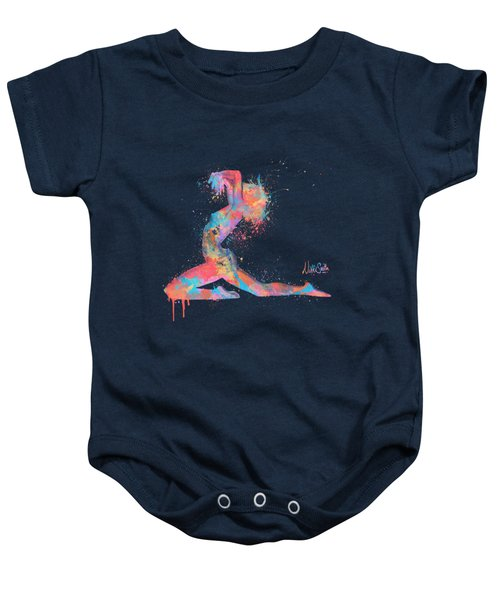 Bodyscape In D Minor - Music Of The Body Baby Onesie by Nikki Marie Smith