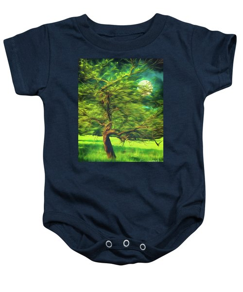 Bowing To The Moon Baby Onesie