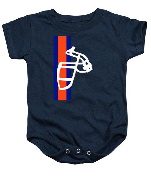 Broncos Facemask Shirt Baby Onesie