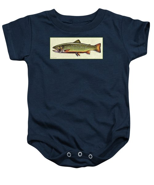 Brook Trout Id Baby Onesie