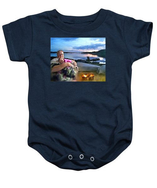 Camping With Grandpa Baby Onesie