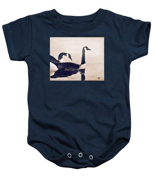 Canada Geese Baby Onesie
