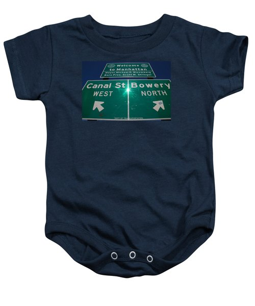 Canal And Bowery Baby Onesie