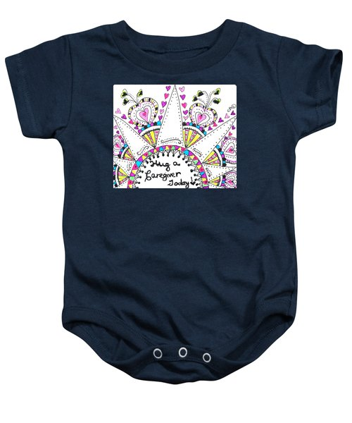 Caregiver Crown Of Hearts Baby Onesie
