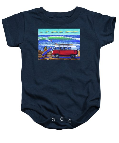 Checking Out The Waves Baby Onesie
