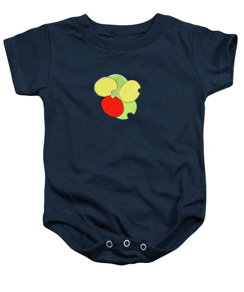 Circles Of Red, Yellow And Green Baby Onesie
