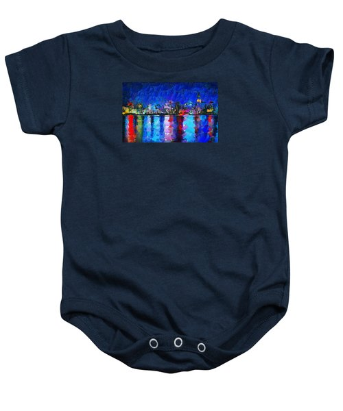 City Limits Tokyo Baby Onesie by Sir Josef - Social Critic - ART