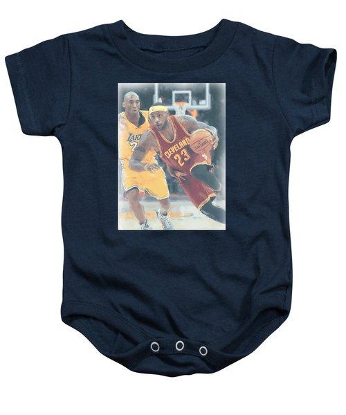 Cleveland Cavaliers Lebron James 3 Baby Onesie by Joe Hamilton