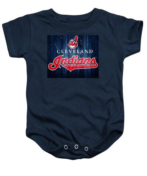 Cleveland Indians Barn Door Baby Onesie