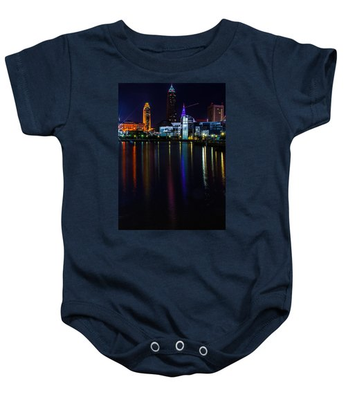 Cleveland Nightly Reflections Baby Onesie