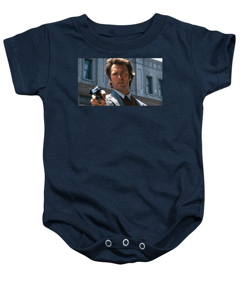 Clint Eastwood With 44 Magnum Dirty Harry 1971 Baby Onesie