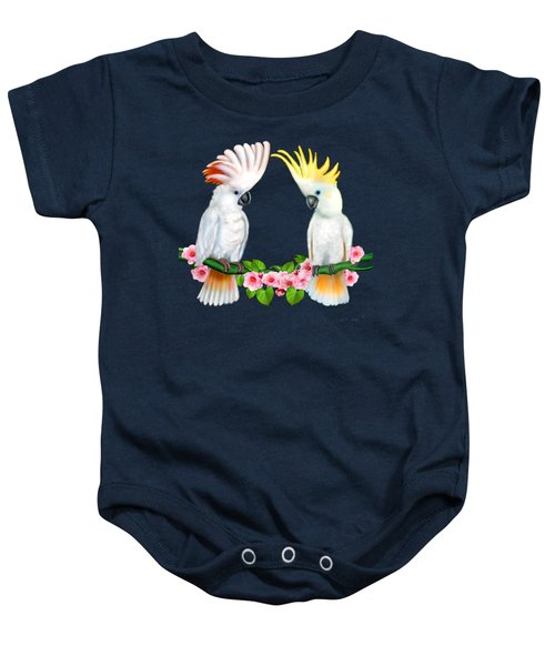 Cockatoo Courtship Baby Onesie by Glenn Holbrook