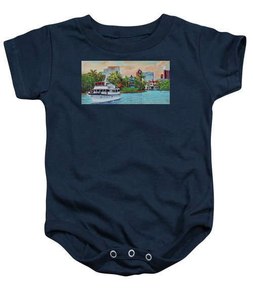 Cocktails On The New River Baby Onesie
