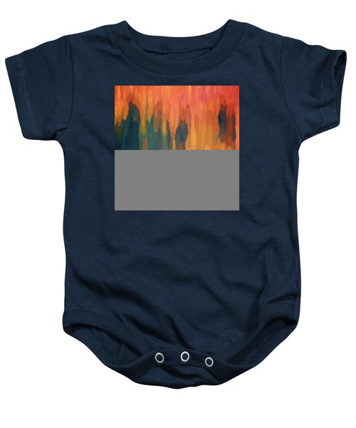 Color Abstraction L Sq Baby Onesie