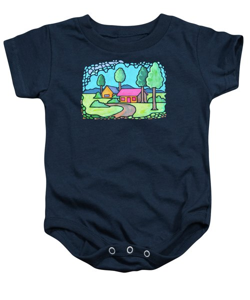 Houses And Trees Baby Onesie