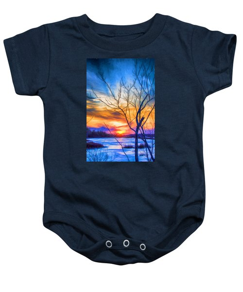 Colorful Cold Sunset Baby Onesie