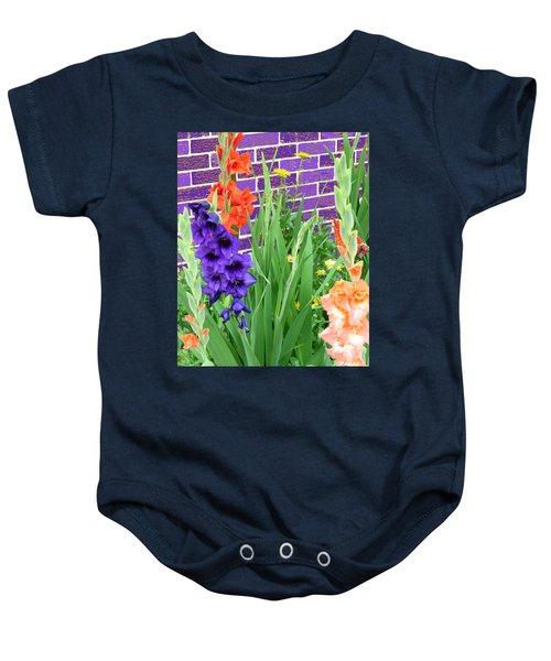 Colorful Gladiolas Baby Onesie