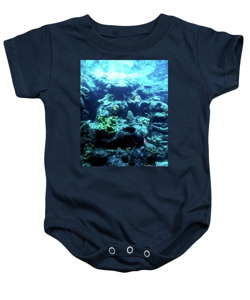 Baby Onesie featuring the photograph Coral Art 4 by Francesca Mackenney