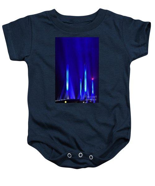 Blue Light Rays - Indian River Inlet Bridge Baby Onesie