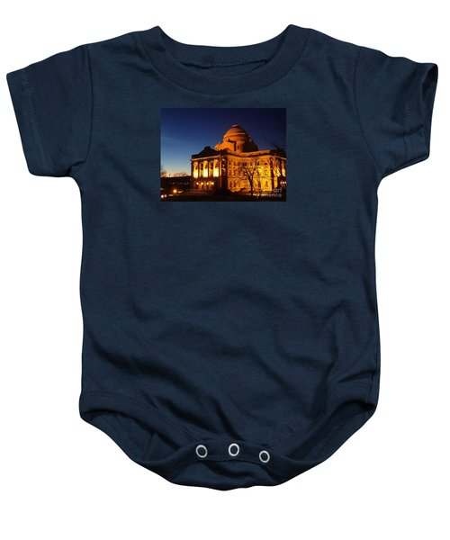 Courthouse At Night Baby Onesie