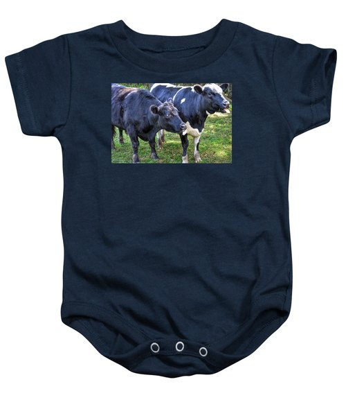 Cows Sticking Out Tongues Baby Onesie