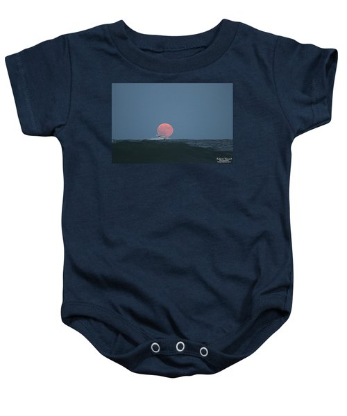 Cruising On A Wave During Harvest Moon Baby Onesie